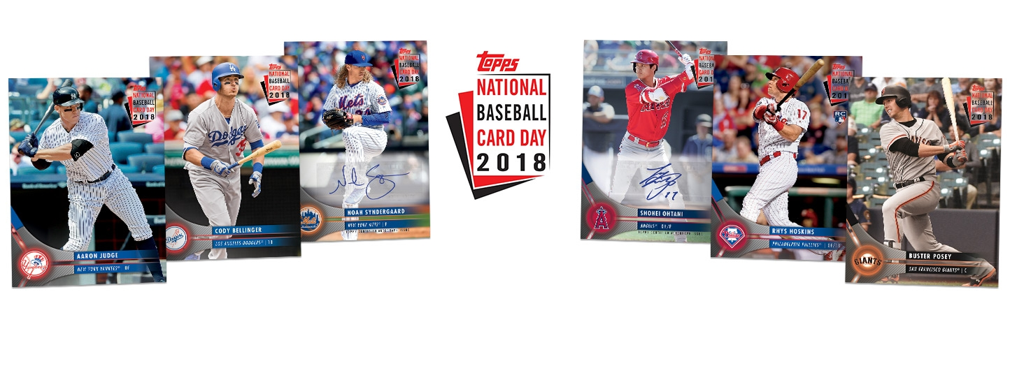 2018 National Baseball Card Day Receive A Free Packs Of Baseball